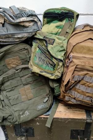 Lote mochilas militares