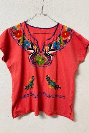 Lote coloridas blusas mexicanas