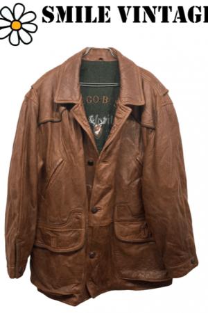 Abrigo de piel Hugo Boss