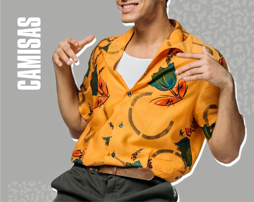 camisas vintage hombre al por mayor