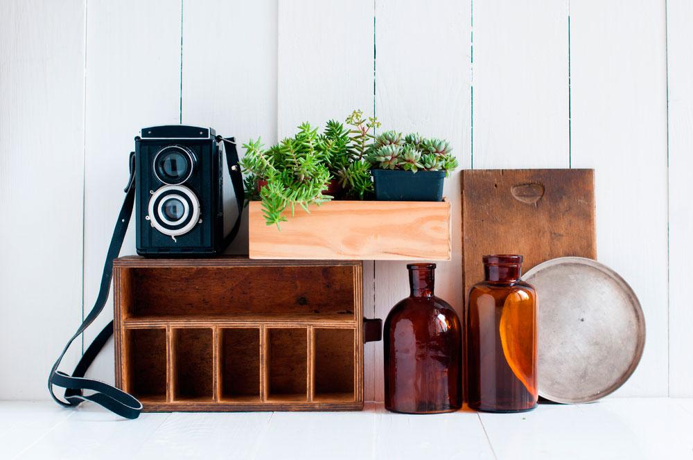Cómo decorar cajas de madera estilo vintage